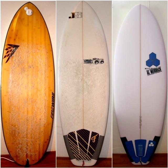 Firewire Sweet Potato vs JS Pier Pony vs Channel Islands Average Joe Surfboard Review Image   Benny's Boardroom - CompareSurfboards.com