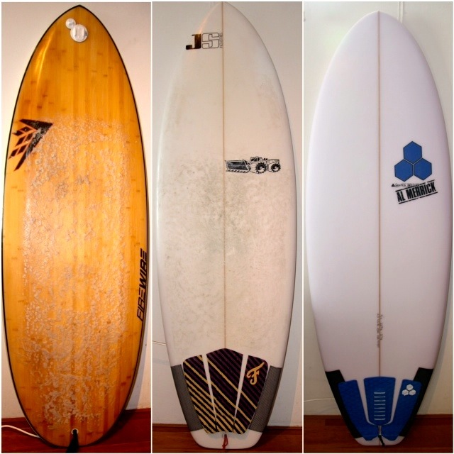 Firewire Sweet Potato vs JS Pier Pony vs Channel Islands Average Joe Surfboard Review Image | Benny's Boardroom - CompareSurfboards.com