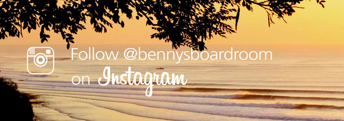 Follow Benny's Boardroom on Instagram