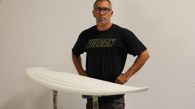 Dane Hantz, My Favourite Board-Vulcan Surfboards Full Yellow Jacket