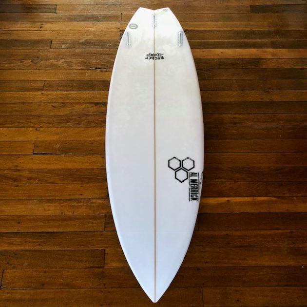 Channel Islands Surfboards Rocket Wide Surfboard Review - Bottom | Compare Surfboards